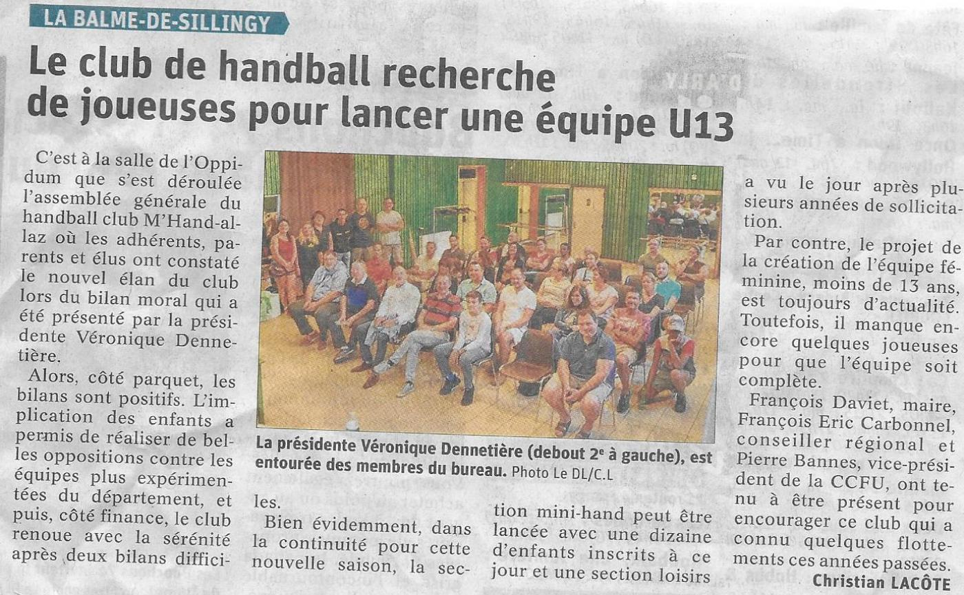 Article du 16 septembre